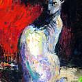 Royal Sphynx Cat Painting by Svetlana Novikova