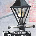 Royal Street Lampost by Elaine Hodges