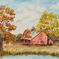 Rt 66 Barn In Bristow Oklahoma by Judy Loper