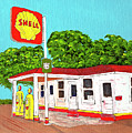 Rt 66 Shell Station by Stephen Bailey