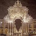Rua Agusta Arch Lisbon Textured by Joan Carroll