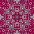 Rubies And Silver Kaleidoscope by Joy McKenzie
