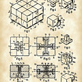 Rubik's Cube Patent 1983 - Vintage by Stephen Younts