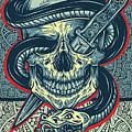 Rubino Logo Tattoo Skull by Tony Rubino