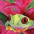Ruby The Red Eyed Tree Frog by Jamie Frier