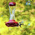 Ruby-throated Hummingbird 2 - Impasto by Steve Harrington