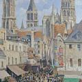 Rue De L'epicerie, Rouen by Camille Pissarro