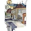 Rue Font St Jean, Ste Alvere, Dordogne by Joan Cordell