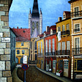 Rue Lamonnoye In Dijon France by Nancy Mueller