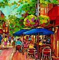 Rue Prince Arthur Montreal by Carole Spandau