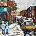 Achetez Les Petits Formats Scenes De Montreal St Viateur Bagel And Cola Truck Buy Montreal Painting  by Carole Spandau