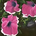 Ruffled Petunias by Carol Sweetwood