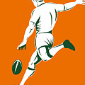 Rugby Player Kicking by Aloysius Patrimonio