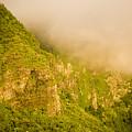 Rugged Volcanic Peaks Of Moorea by Tim Laman