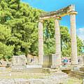 Ruin Of Philipp's Temple In Olympia, Greece by Marek Poplawski