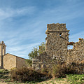 Ruined Building And Restored Church At Occi In Corsica by Jon Ingall