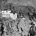 Ruins And Basgo Monastery Surrounded With Stones And Rocks Ladakh by Rudra Narayan Mitra