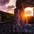 Ruins At Sunset by Julia Rigler