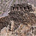 Ruins At The Ollantaytambo Site by Bob Phillips