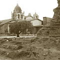 Ruins Of Carmel Mission Circa 1924 by California Views Archives Mr Pat Hathaway Archives