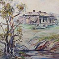 Ruins Of Squatter's Arms Inn, Cookardinia. 2 Of Pair. by Ryn Shell