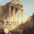Ruins of the Temple of Bacchus by David Roberts