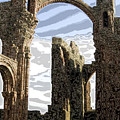 Ruins On The Holy Island by Carl Purcell