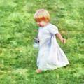 Running Barefoot In The Grass by Francesa Miller