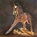 Running Foal by Yvonne Hazelton