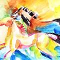 Running Horses Color by Carlin Blahnik CarlinArtWatercolor