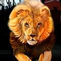 Running Lion by Susana Falconi