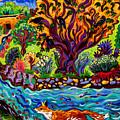 Running River, Running Fox by Cathy Carey
