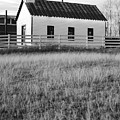 Rural Church Black And White by Jill Reger