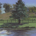 Rural Landscape Painting Of Bauer Farm by Terri  Meyer