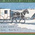 Rural Letter Carrier's Christmas Card  by Celestial Images