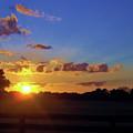 Rural Sun Set by D Hackett