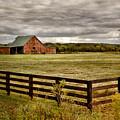 Rural Tennessee Red Barn by Cheryl Davis