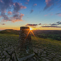 Rushup Edge From Mam Tor Summit Sunset by Ian Haworth
