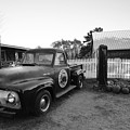 Russel Farms 1951 Ford F100 Black And White by Toby McGuire
