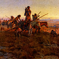 Russell Charles Marion In The Wake Of The Buffalo Hunters by PixBreak Art