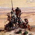 Russell Charles Marion Indians On Plains by PixBreak Art