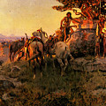 Russell Charles Marion Watching For Wagons by PixBreak Art