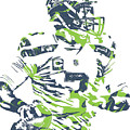 Russell Wilson Seattle Seahawks Pixel Art 10 by Joe Hamilton