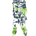 Russell Wilson Seattle Seahawks Pixel Art 11 by Joe Hamilton