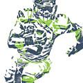 Russell Wilson Seattle Seahawks Pixel Art 12 by Joe Hamilton