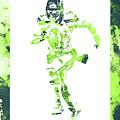 Russell Wilson Seattle Seahawks Water Color Art 1 by Joe Hamilton