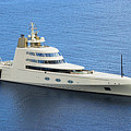 Russian Mega Yacht  A - St Lucia by Chester Williams