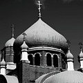 Russian Orthodox Church Bw by Karol Livote