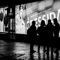 Russian Teens At Night Outside A Shopping Center by John Williams