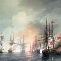 Russian Turkish Sea Battle Of Sinop by Ivan Konstantinovich Aivazovsky